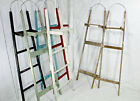 "Vintage Ladder Handy Man Storage Shelf 58"" w/ Antique Porcelain Door Knobs"