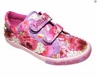 Lelli Kelly Lilac Velcro LK9101 Girls Canvas Shoes Brand New Style Size 25 - 35
