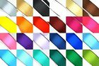 "25 Yard Satin Ribbon Rolls in 24 Colors Sizes: 1/4"", 3/8"", 1/2"", 5/8"", 3/4, & 1"""