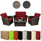 10-parts poly rattan Lounge suite RIO DELUXE furniture set conservatory garden