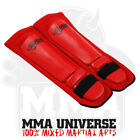 Rogue Leather Competition Pro Series Shin Pads - Red - [MMA UFC Fight Gear]