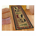 "Navajo Tribal Decor Rug Runner Carpet 7'5"" Long for Hall Laundry Kitchen New"