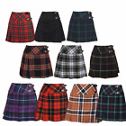 New Ladies Scottish Mini Billie Kilt Mod Skirt Range of Tartans Sizes 6-18 BNWT