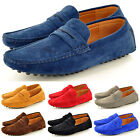 New Mens Faux Suede Casual Loafers Moccasins Slip on Shoes in UK Sizes 6-11
