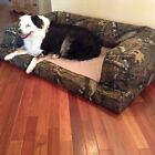XXL Orthopedic Camo Dog Bed Couch Large (30 x 40 in) or Jumbo (34 x 54 in)