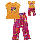 "Dollie & Me Sz  5 girl and 18"" doll matching Pajama set fits american girl"