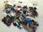 ACRYLIC GEMS MIXED SIZES COLOURS Gemstones JEWELS CROWN CRAFTS FOIL FLAT BACK