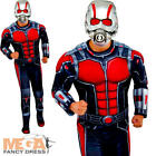 Deluxe Ant Man Mens Fancy Dress Marvel Superhero Adults Comic Book Day Costume