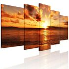 Framed, Ready To Hang Canvas Prints Picture Canvas Wall Art Painting-Sea Sunrise