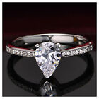 AAAAA Simulated Diamond Solitaire/Engagement Ring Set In 925 Sterling Silver