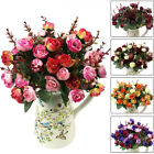 21 Head Bouquet Artificial Rose Silk Flower Capable Home Party Wedding Decor