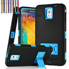samsung note 2 3 - Hybrid Rugged Impact Rubber Hard Case Cover for Samsung Galaxy Note 2 /3 /4