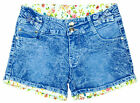 Girls Floral Lined Gem Bows Denim Fashion Hotpant Summer Shorts 3 to 14 Years