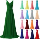 Long Sexy Chiffon Formal Prom/Bridesmaid Cocktail Party Evening Dress Size 6-22