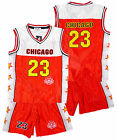 Boys CHICAGO Basketball Sport Vest Top & Shorts Outfit Set 3-14 Years NEW