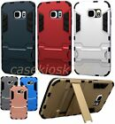 for samsung galaxy S6 case hybrid with stand black silver gold red blue gray