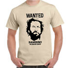 T-Shirt Divertente Vintage Bud Spencer e Terence Maglietta Film Trinità Wanted
