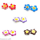 20 PCs Polymer Clay Flower Charm Beads M1155