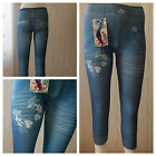 Leggings Jeans Optik.Treggings Freizeithose-Hose,Gr.,92,98,110,122,134