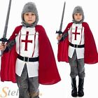 Boys English St George Knight Medieval Crusader Fancy Dress Costume Child Outfit