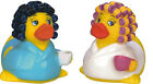 Good Morning Rubber Duck With Coffee / Curlers