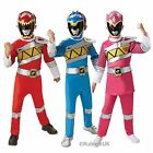 Dino Charge Power Rangers Red Blue Pink Deluxe Kids Boys Girls Costume 2016