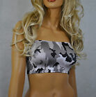 BOOB TUBE TOP Black Grey White CAMO Stretch BANDEAU Club Party NEW Womens B38