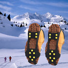 10 Studs Ice Snow Climbing Walking Non-slip Shoe Covers Spike Grips Crampons OE