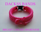 Breast Cancer Awareness Un-Official  Hand Made Pink Paracord WristBand Bracelet