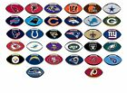 NFL Licensed Decal Stickers Football Shape Complete Set of all 32 Teams on eBay