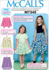 McCalls 7345 Girls EASY Learn to Sew For Fun Skirt Sewing Pattern 3-14 Yrs M7345