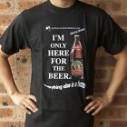 Here for Beer T-Shirt - Funny Mens Novelty Black T Shirt (Free Shipping)