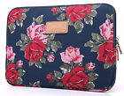 """Peony 15"""" 15.4"""" 15.6"""" Laptop Soft Sleeve Case Canvas Notebook Bag Cover For Acer"""