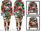 New Women's Camouflage Army Two Piece Fleece Sweatshirt/Hooded Lounge Tracksuit