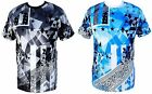 Bleecker & Mercer Mens Geometric Bandana Print T-Shirt Hip Hop Urban Wear