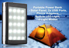 50000/30000mAh Solar Power Bank 2USB  20pc LED Battery Charger For Smart Phones