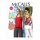 McCalls 6751 Easy Keyhole Back Sleeveless Top XS-Plus Size Sewing Pattern M6751