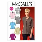 McCalls 7018 EASY 3/4 Long Sleeves Tops Tunics Button Sewing Pattern M7018 6in1!