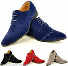Men's Faux Suede Casual Formal Lace Up Pointed Winkle Pickers Shoes Sizes 5-12