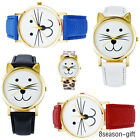 HX 1PCs New Fashion Cat Glass Quartz DIY Bracelet Watch For Women