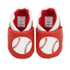 Baby Boy Baseball Red Shoes Toddler Infant Pre-Walker and Walker Size Slip-On