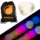 Glow Juggling Ball Set - 3x Slow Fade LED Juggling Balls & Firetoys Bag!