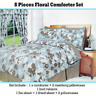 8 Piece Comforter + 4 Std Pcases + Valance + Fitted + Flat Sheet DOUBLE QUEEN