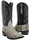 Mens Real Python Snake Skin Genuine Leather Cowboy Boots Rodeo Western Round