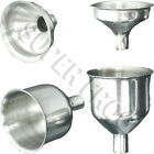Stainless Steel Hip Flask Funnel Small Large Drinking Funnels Portable Alcohol