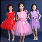 Girls Flower Dress Formal Kids Bridesmaid Princess Wedding Party Dress Age 2-14