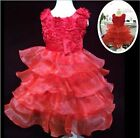 Girls Flower Dress Formal Kids Bridesmaid Princess Wedding Party Dress Age 1-8