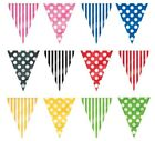 Bunting - Flag Banners - 12ft - Spotty or Stripe