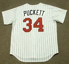 KIRBY PUCKETT Minnesota Twins 1994 Majestic Throwback Home Baseball Jersey
