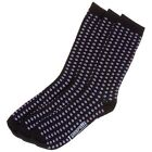 New Mens Lambretta Black Jacquard Target Cotton/Polyester Socks Casual